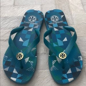 Tory Burch limited edition textile flip flops
